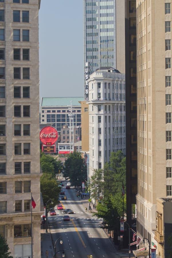 Atlanta w centrum USA Gruzja zdjęcia royalty free