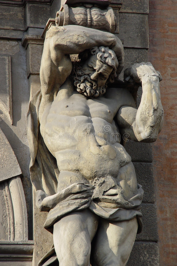 Atlante statue royalty free stock image