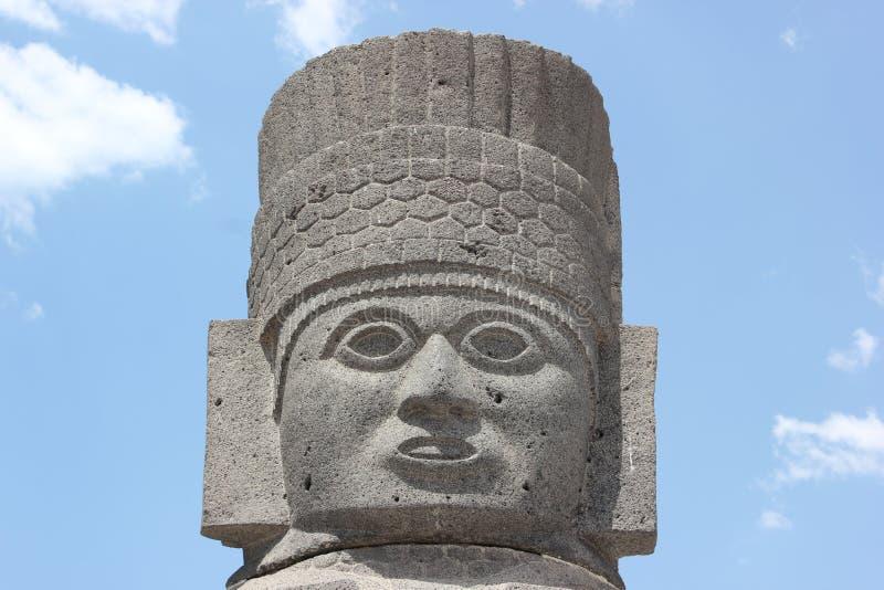 Atlantean Golum, Tula Giant Stone Warrior am Hidalgo Mexiko stockfotos