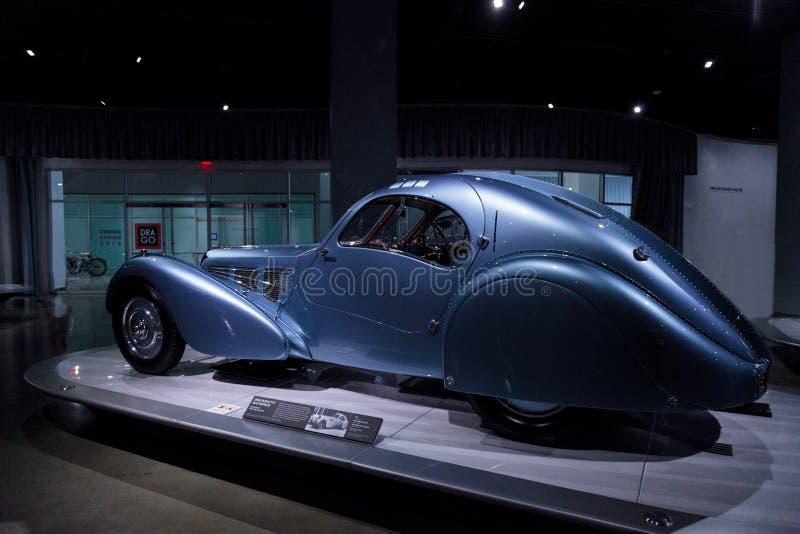 Atlanten 1936 för Bugatti typ 57SC arkivbilder