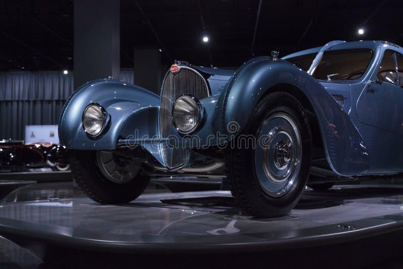 Atlanten 1936 för Bugatti typ 57SC arkivfoto