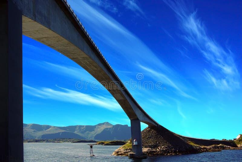 Atlanterhavsvegen. Noorwegen stock afbeelding