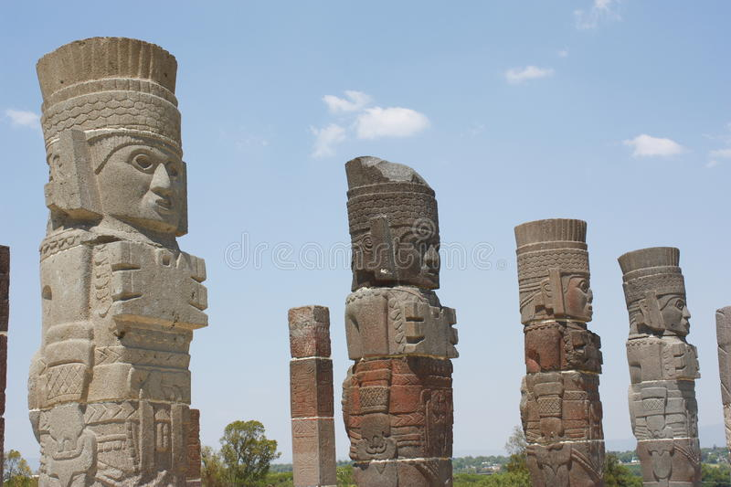 Download Atlantes I stock photo. Image of pyramids, archaeology - 19708122