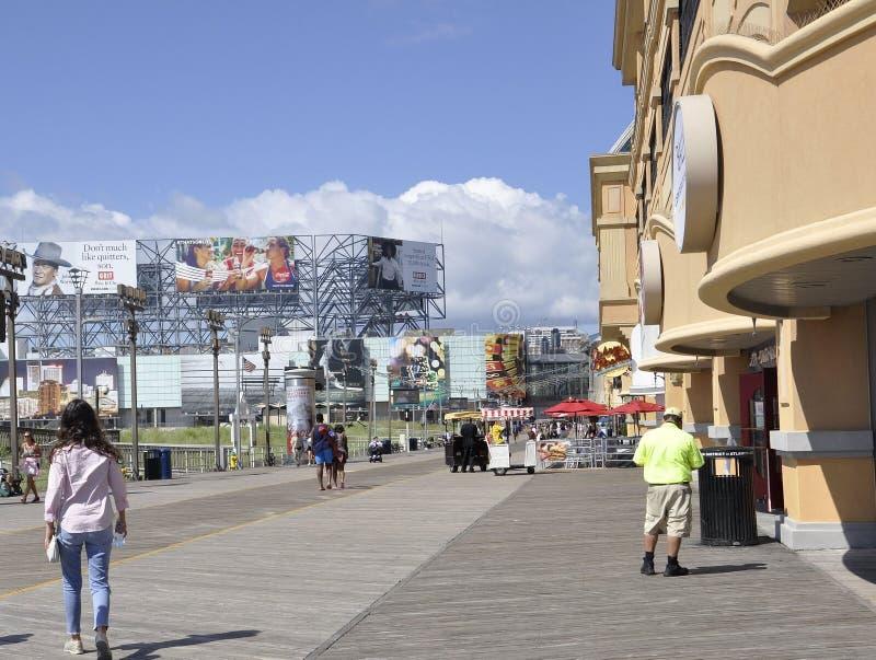 Atlantic City,August 4th:Atlantic City Resort Promenade in New Jersey royalty free stock photo