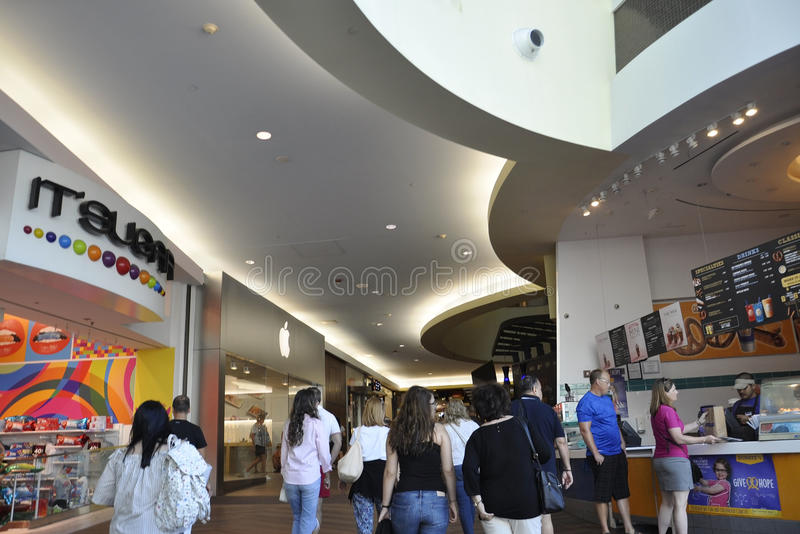 Atlantic City,August 4th:Modern Mall Interior from Atlantic City Resort in New Jersey. Modern Mall Interior from Atlantic City Resort in New Jersey on august 4th stock photo