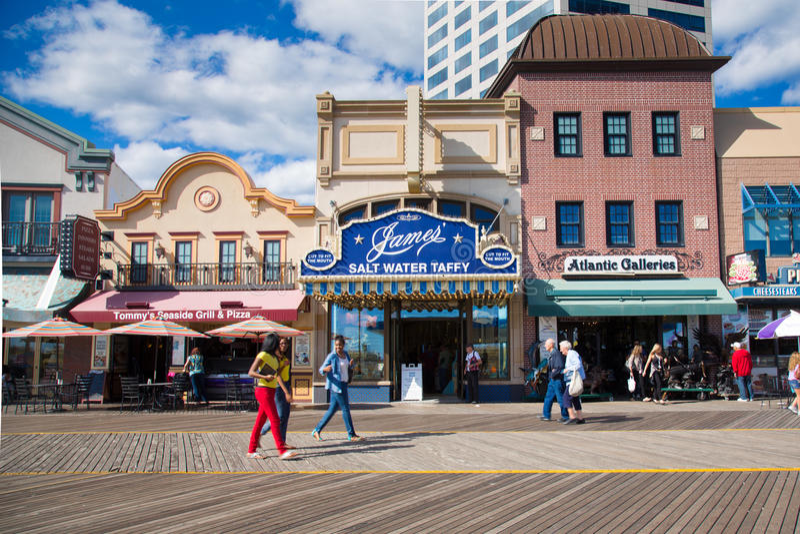 Atlantic City Boardwalk NJ royalty free stock photos