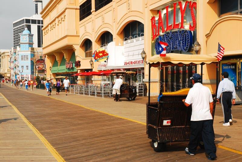 Atlantic City Boardwalk. A Pedicab rolls Along the Boardwalk in Atlantic City stock images
