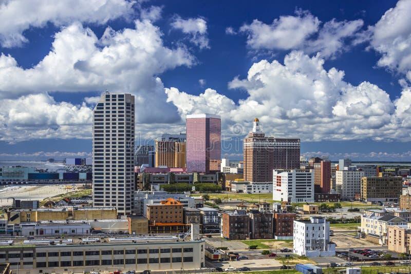 Atlantic City Cityscape royaltyfri bild