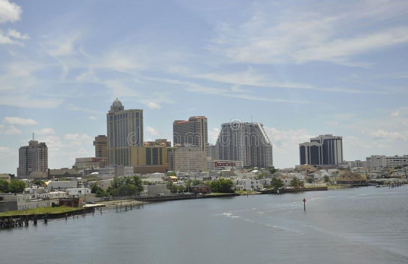 Atlantic City, el 4 de agosto: Panorama del centro turístico de Atlantic City en New Jersey imagen de archivo