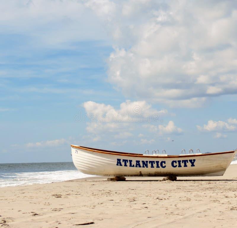 Atlantic City Markstein stockfoto
