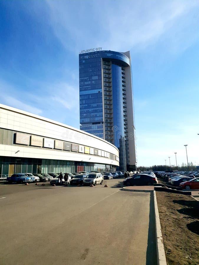 Atlantic City na luz do sol St Petersburg imagem de stock