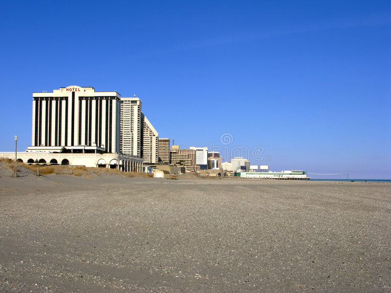 Atlantic City New Jersey Beach and Casinos Hotels stock image