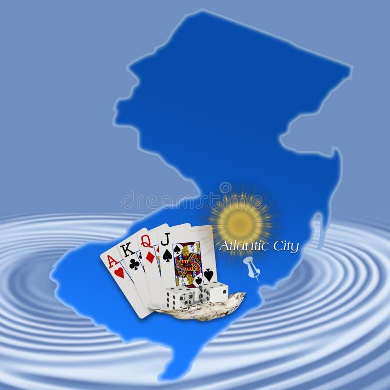 Atlantic City, New Jersey (correspondencia) stock de ilustración