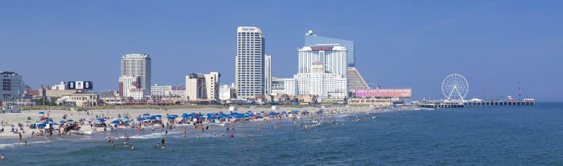 Atlantic City, New-Jersey - panoramisch lizenzfreie stockfotos