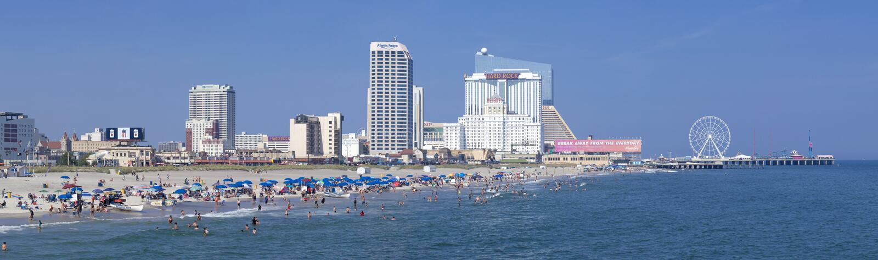 Atlantic City, New-Jersey - panoramisch stockbild