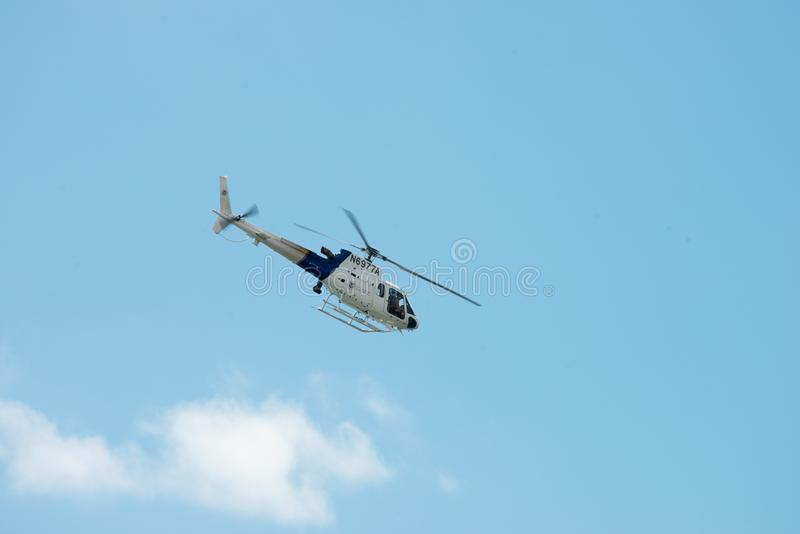 ATLANTIC CITY, NJ - AUGUST 17: US Customs and Border Protection Helicopter at Atlantic City Air Show on August 17, 2016 royalty free stock image