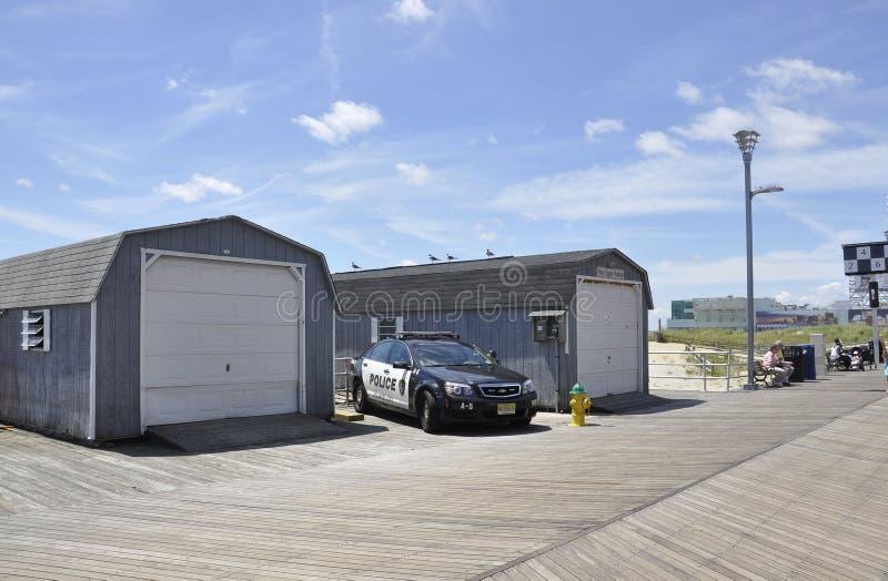 Atlantic City, o 4 de agosto: Carro de polícia do recurso de Atlantic City em New-jersey fotos de stock royalty free