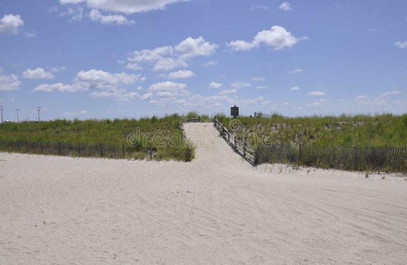 Atlantic City, o 4 de agosto: Passeio da praia do recurso de Atlantic City em New-jersey foto de stock royalty free