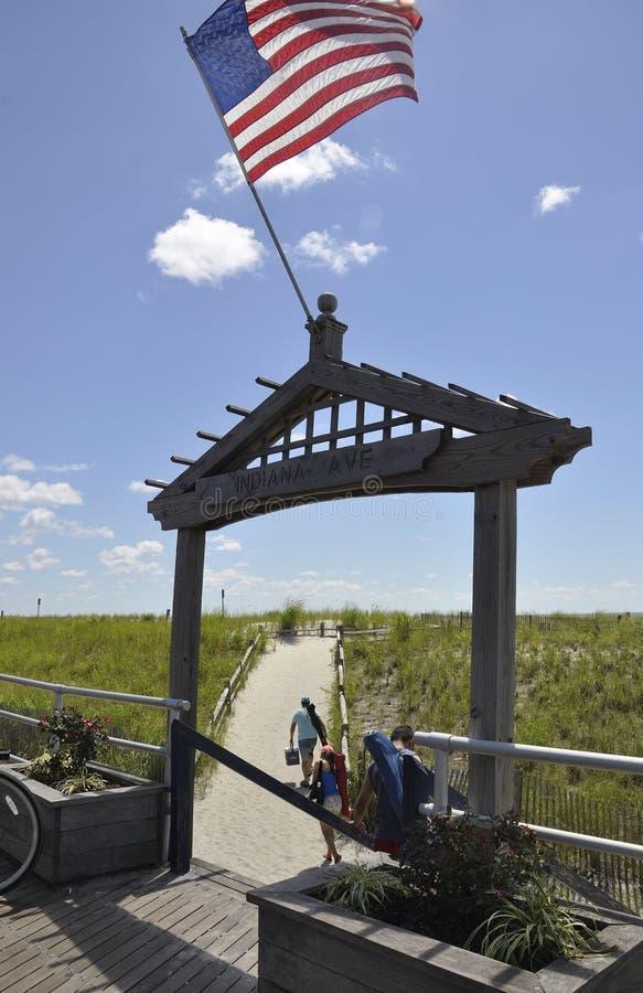 Atlantic City, o 4 de agosto: Porta da praia do recurso de Atlantic City em New-jersey fotos de stock