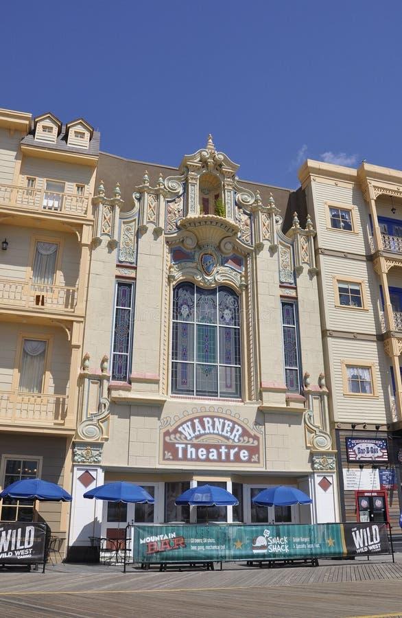 Atlantic City, o 4 de agosto: Teatro famoso do recurso de Atlantic City em New-jersey foto de stock royalty free