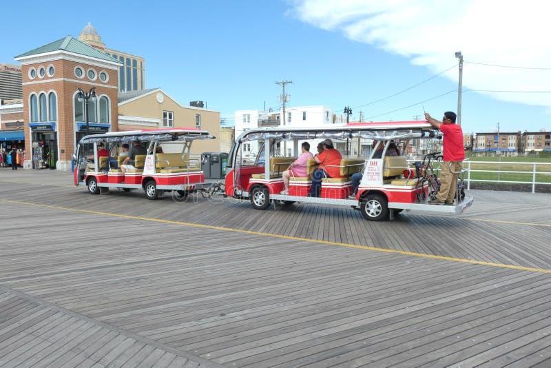 Atlantic City spårvagn arkivbild