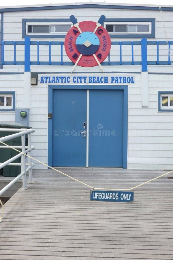 Atlantic City strandpatrull royaltyfri foto