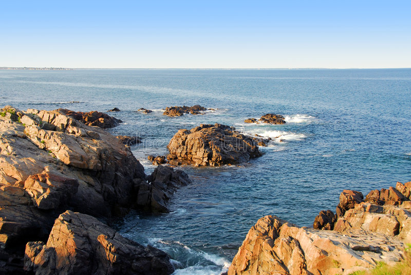 Download Atlantic coast stock image. Image of america, rocks, drops - 996307