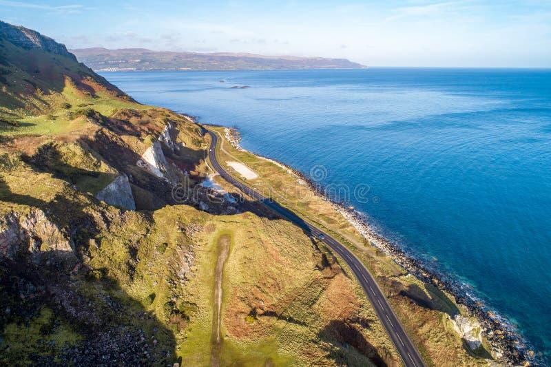 Atlantic coast in Northern Ireland stock image