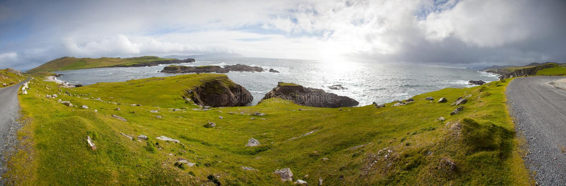 Atlantic Drive, Achill Island, Co Mayo, Ireland Royalty Free Stock Image
