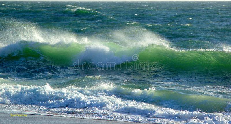 Atlantic from the mouth of the Douro River royalty free stock image
