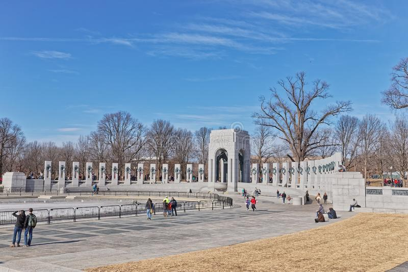 Atlantic northern part of the World War II Memorial in Washington DC royalty free stock photography