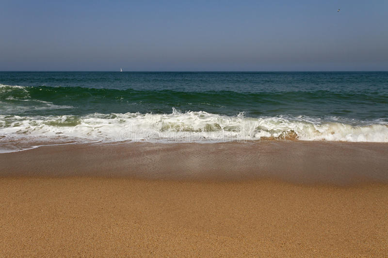 Atlantic ocean beach. Atlantic ocean beach in a sunny day royalty free stock photography