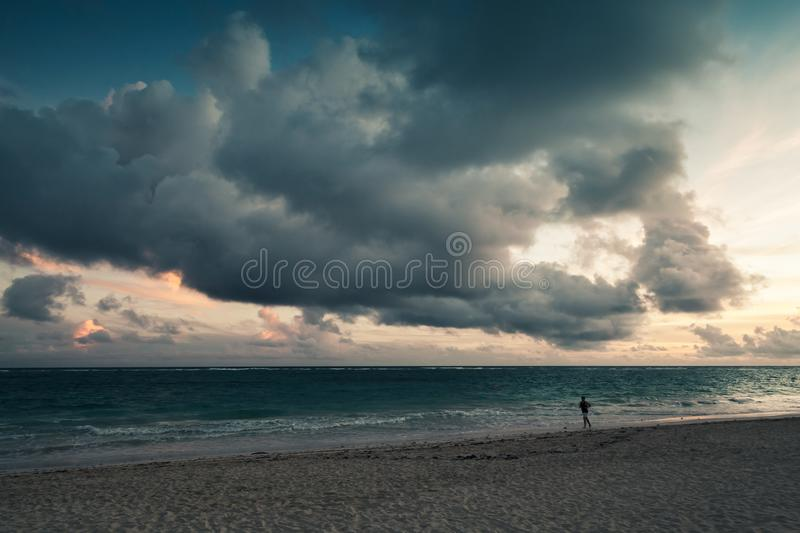 Atlantic ocean, Landscape with dramatic sky royalty free stock photos