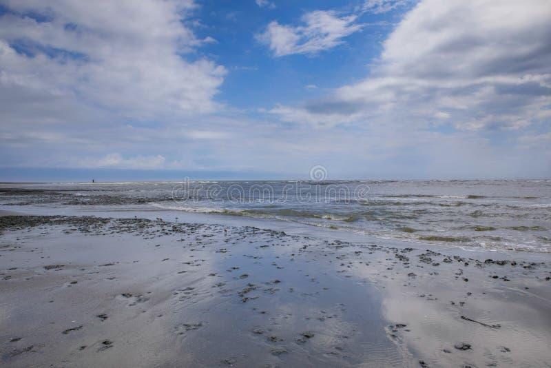 Atlantic Ocean Folly Beach SC Background. Coastal landscape background of the Atlantic Ocean at Folly Beach near Charleston, South Carolina royalty free stock photography