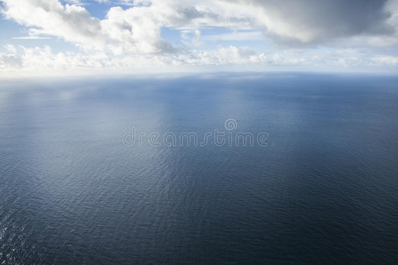 The Atlantic Ocean, Madeira, Portugal. A view of the Atlantic Ocean seen from the northern shore of Madeira island, Portugal stock images