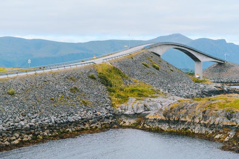 Atlantic Ocean Road, Noruega fotografia de stock royalty free