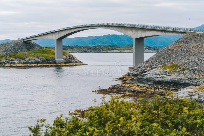 Atlantic Ocean Road, Noruega fotografia de stock