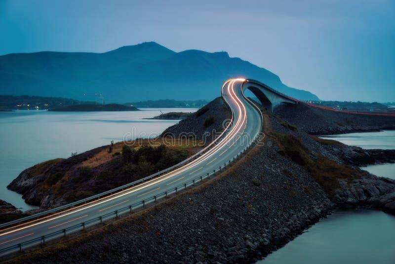 Atlantic Ocean Road Norway. Taken in 2017 taken in 2017 royalty free stock images