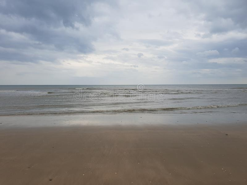 Atlantic ocean shore in France stock photography