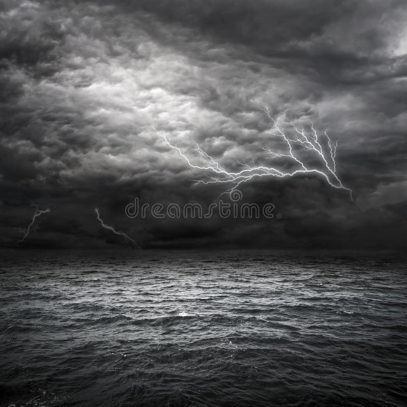 Atlantic Ocean Storm stock photo