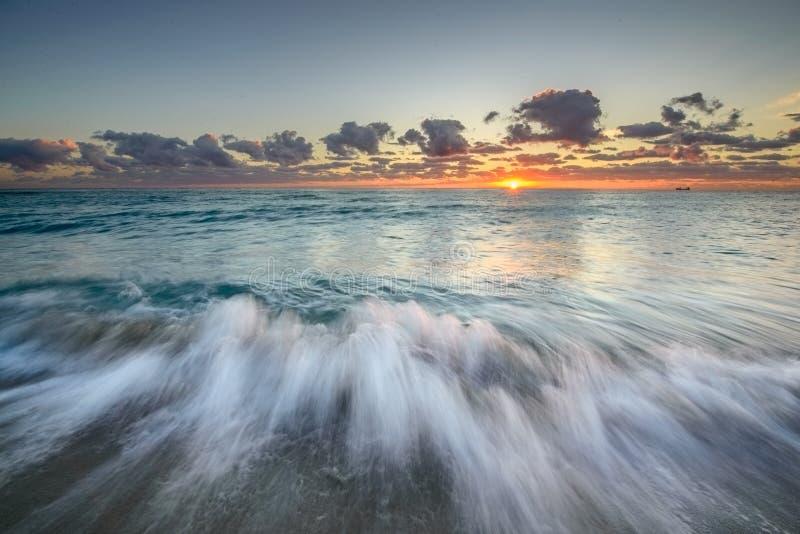 Atlantic Ocean At Sunrise Stock Photos