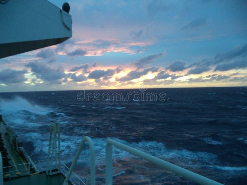 Atlantic Ocean Sunset stock photo