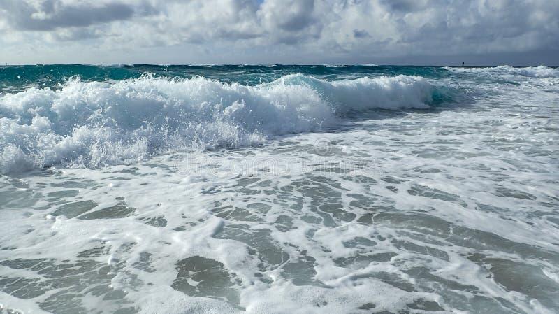 Atlantic Ocean waves crashing royalty free stock photo