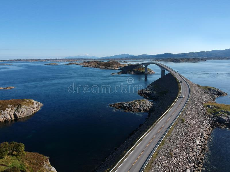 Atlantic Road in Norway, Europe royalty free stock photo