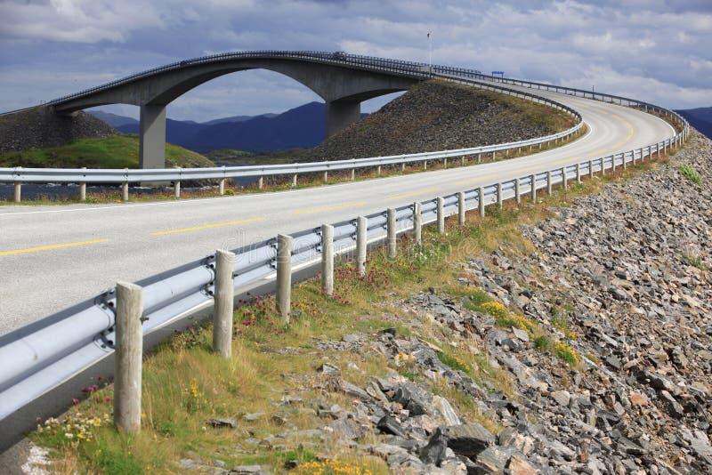 The Atlantic Road in Norway. Storseisundet Bridge on the Atlantic Road in Norway stock photography