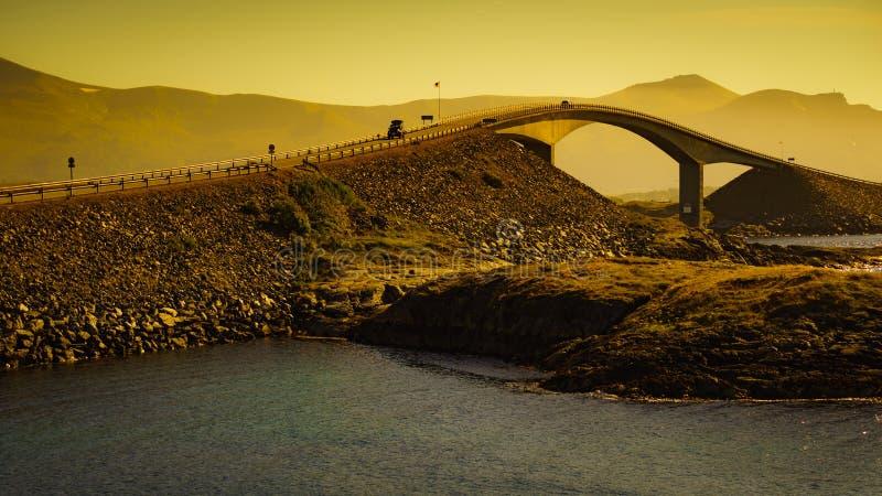 The Atlantic Road in Norway stock image