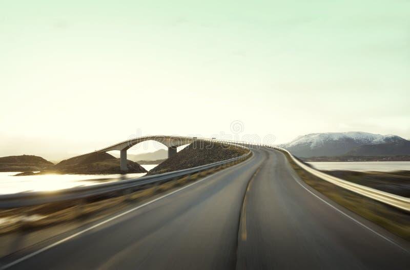 Atlantic Road in Norway. Atlantic Road in western Norway royalty free stock images