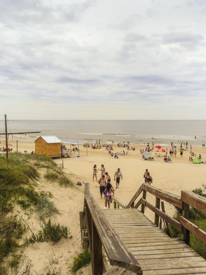 Atlantida-Strand in Uruguay lizenzfreie stockbilder