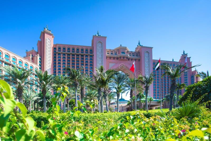 Atlantide l'hotel della palma immagini stock