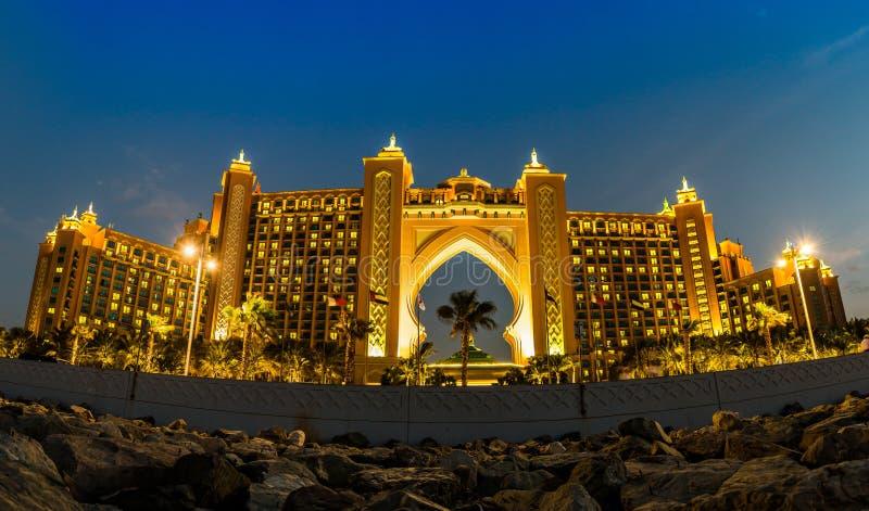 Atlantide, l'hotel della palma nel Dubai, Emirati Arabi Uniti immagini stock